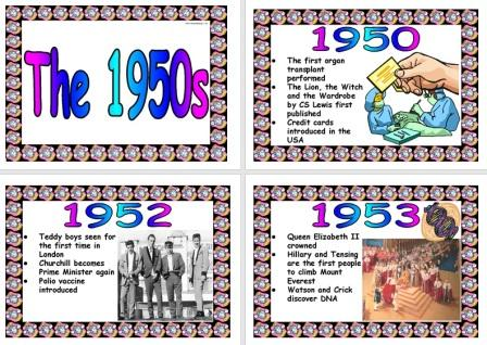 Timeline of the fifties