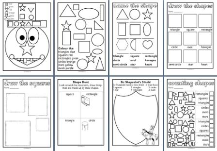 Free Ks Maths Teaching Resources  D Shapes Worksheets For  Free Printable Worksheets For Early Yearsks D Shape