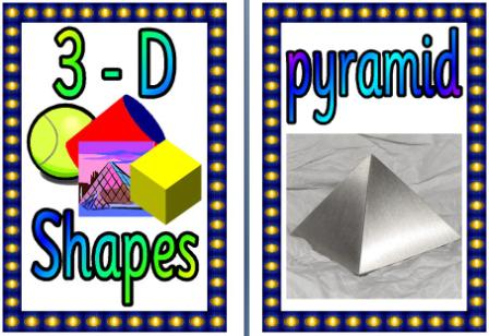 Free Printable 3D shapes with everyday life examples posters.