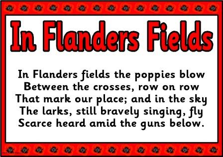 Free Printable 'In Flanders Fields' Remembrance Day Poppy Poem