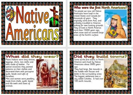 Free Printable Native Americans History Information posters