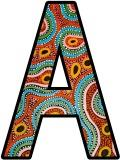 Aboriginal Art Background Display Lettering