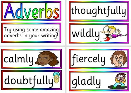 Adventurous words - Adverbs printable posters