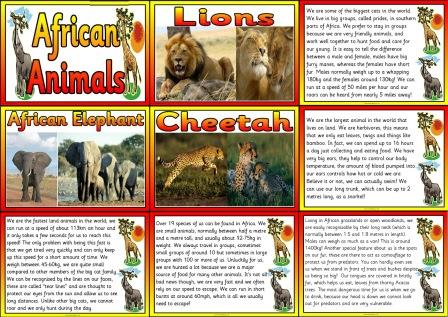 Geography Resources Teaching about Africa Worksheets