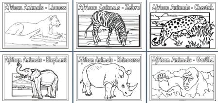 african animals coloring pages - photo#42