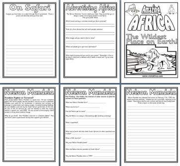 Geography Resources - Teaching about Africa. Worksheets, colouring ...