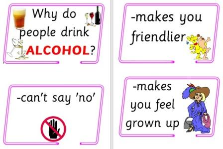 Free cards offering simple reasons why people drink alcohol