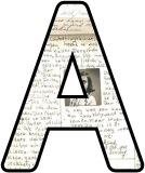Free printable Diary of Anne Frank background instant display letters, digital lettering sets.