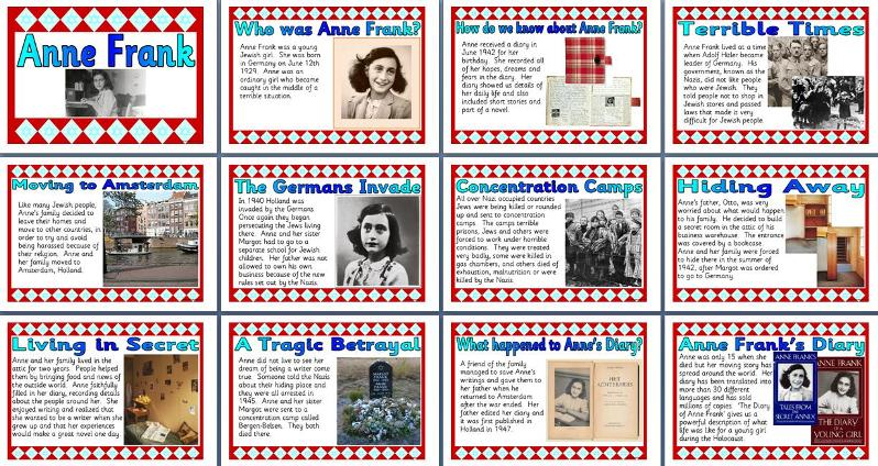 KS2 History Teaching Resource Life of Anne Frank printable – Anne Frank Worksheets