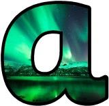 Northern Lights lettering