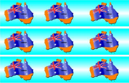 Printable Australia Display Board Borders With Light Blue Dark And White Backgrounds Also Includes An Map Page Border Some Images Of
