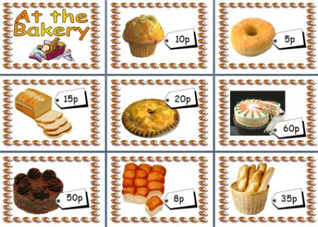 Free Printable At the Bakery Maths Shopping Posters for Role Play Areas