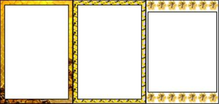Free printable Bee Themed page borders