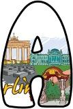 Free printable Berlin, Germany background classroom display lettering sets.