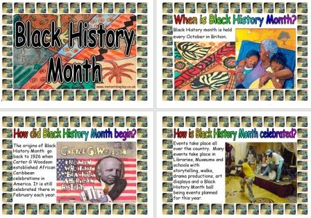 Free Printable Information Posters about Black History Month in the UK
