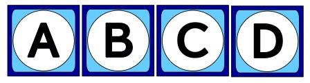 Free printable big boggle tiles for classroom display