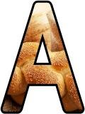 Free printable Bread with Wheat and Flour photo background instant display digital lettering sets.