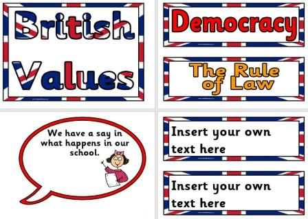 Free Printable British Values Display Set for Schools