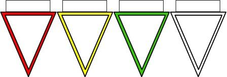 Blank solid colour outline bunting for classroom display.  Copy and paste multiples of just the colours you need.