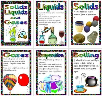 solids and liquids worksheets