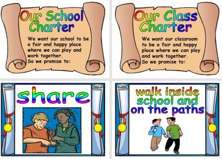 Free Printable Our School or Our Class Charter