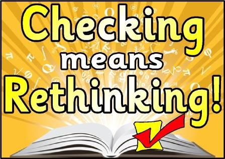 Checking means Rethinking Poster