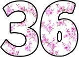Cherry Blossom Sakura background printable numbers