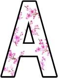 Cherry Blossom Sakura background printable lettering sets
