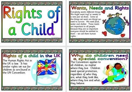 Free Printable Rights of a Child Posters