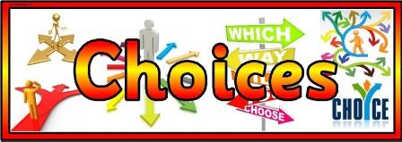 Free printable Choices banner for classroom display