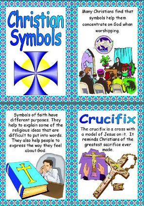 ks2 religious education teaching resources christianity christian symbols printable poster set