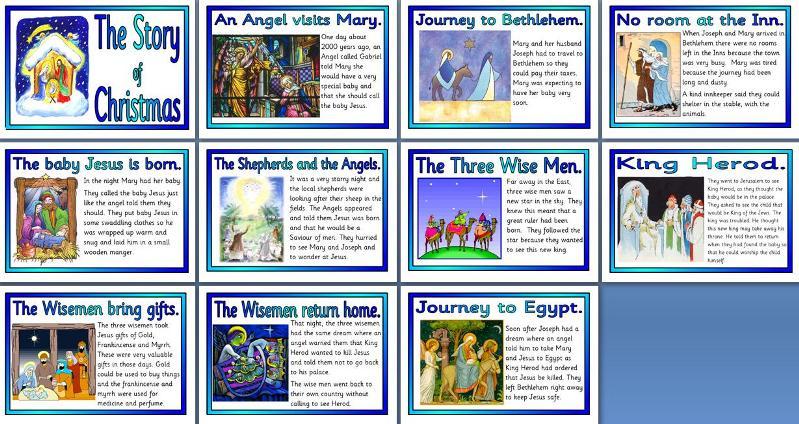 Candid image inside free printable christmas story