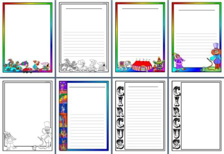 Circus Theme Teaching Resources, Printable Banners, Borders And More