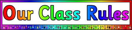 Free printable 'Our Class Rules' classroom display banner