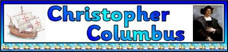 Free Christopher Columbus Printable Display Banner