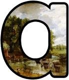John Constable 'The Haywain' background lettering sets.