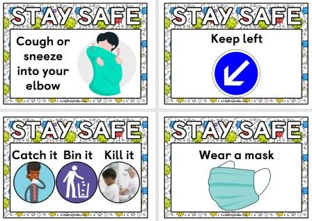 Printable Posters for Classroom Display.  Coronavirus safety posters for schools and library displays.