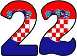 Free printable Flag of Croatia background instant display lettering sets for classroom display.