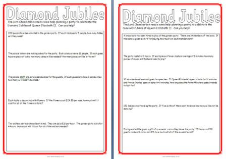 math worksheet : free diamond jubilee teaching resources posters printables  : Key Stage Two Maths Worksheets