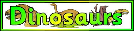 Free Printable Dinosaurs Banner