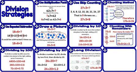 task cards long division acronym poster printable division strategies ...