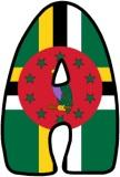 Flag of Dominica lettering sets for classroom display.