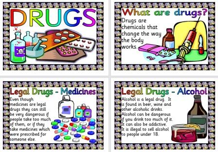 Free Posters about Drugs, types of drugs and the law