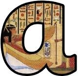 Ancient Egypt Egyptian Heiroglyphics background display lettering sets.