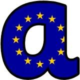 European Union Flag lettering display