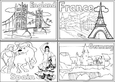 geography resources teaching about europe worksheets colouring