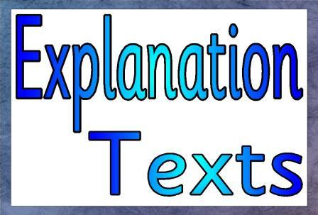 Explanation text is to say