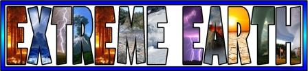 Free printable Extreme Earth, Natural Disasters Banner for Geography classroom displays