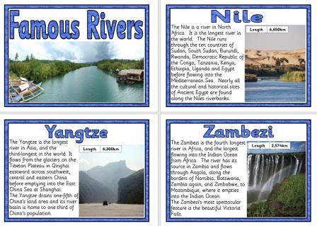 Geography Resources KS And KS Mountains The Environment - World famous river name