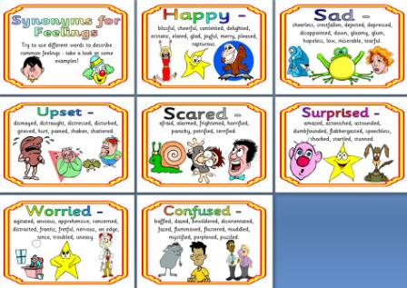 Synonyms for feelings resource preview free